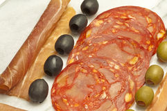 Chorizo sausage of Spain Royalty Free Stock Image