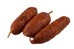 Chorizo sausages Royalty Free Stock Images