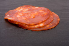 Chorizo Slices Stock Photos