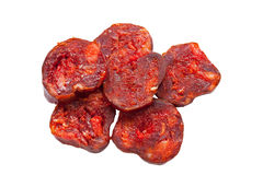 Chorizo slices Royalty Free Stock Photos