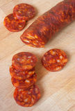 Chorizo, slicing sausage Stock Photo
