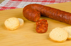 Chorizo snack Royalty Free Stock Photo