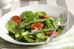Chorizo and spinach salad Stock Photo