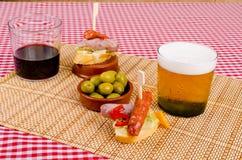 Chorizo tapa Stock Foto's