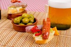 Chorizo tapa Royalty-vrije Stock Foto's