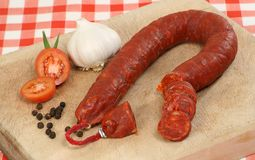 Chorizo and tomato Royalty Free Stock Photo