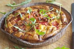 Chorizo tortilla Stock Images