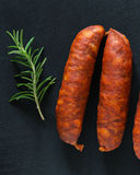 Chorizo. Traditional Spicy Spanish Chorizo Sausages Stock Photos