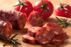 Chorizo-Wurst Lizenzfreies Stockfoto