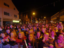 Chorley Christmas lights switch on Royalty Free Stock Photo