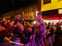 Chorley Christmas lights switch on Royalty Free Stock Photography