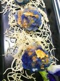 Chormuang Gedämpfte thailändische Mehlklöße mit Krebsfleisch u. Huhn, thailändische Nachtische lizenzfreies stockbild