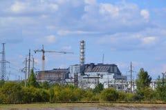 Chornobyl kärnkraftverk, Chornobyl zon Royaltyfria Bilder