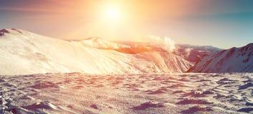 Chornohora, highest mountain range in Ukrainian Carpathians. Pan. Orama royalty free stock image