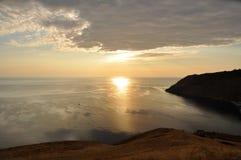 Chorny Rasvet över havet. Arkivfoto