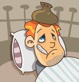 Choroba na łóżku Obraz Royalty Free