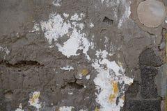 Chorobliwa popielata stiuk ściana zdjęcie stock