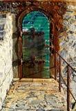 Chorobliwy drzwi latarnia morska Collioure, Francja obrazy stock