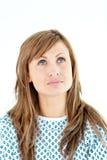 chorobliwy kobieta pacjent przyglądający chorobliwy obrazy stock