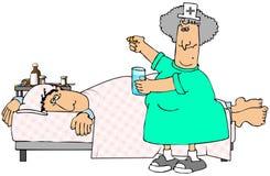 choroby pacjenta royalty ilustracja