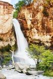 Chorrillo del Salto vattenfall i Patagonia Arkivbild