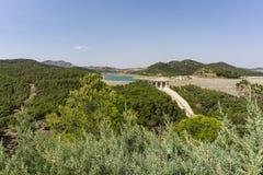 chorro el Landskap av Malaga spain Royaltyfria Foton
