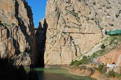 Chorro Gorge, Andalusia, Spain. Royalty Free Stock Photos