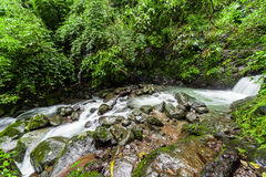 Chorro Las Mosas waterfalls, along the Rio Anton in El Valle de Anton royalty free stock photography