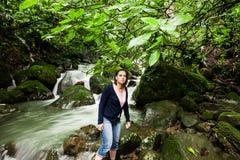 Chorro Las Mosas waterfalls, along the Rio Anton in El Valle de Anton Royalty Free Stock Image