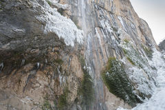 Chorron de Viguera waterfall, La Rioja, Spain Royalty Free Stock Image