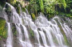 Chorros de la Calera瀑布在Juayua,萨尔瓦多 库存照片