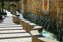 Chorros water fountains in Polop, near Benidorm - APRIL 2014. Stock Photography