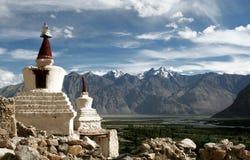 chorten喜马拉雅山印度ladakh 免版税库存照片