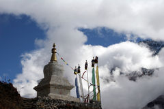 chorten尼泊尔 库存照片