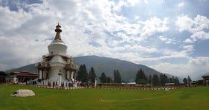 Chorten commemorativo in Thimpu fotografia stock