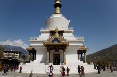 Chorten conmemorativo - Bhután imagen de archivo