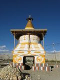 Chorten at the entrance of Tsarang village Stock Photo