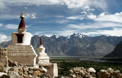 Chorten, Himalayagebergte, Ladakh, India Royalty-vrije Stock Foto