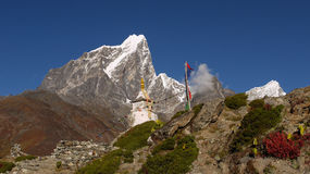 Chorten in the Himalayas Stock Image
