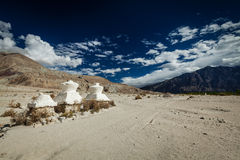 Chorten in Himalayas. Nubra valley, Ladakh, India Royalty Free Stock Photography