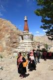Chorten i Ladakh Arkivfoto