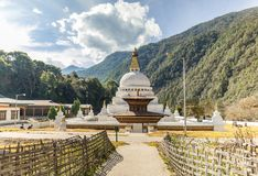 Chorten Kora w Trashiyangtse, Wschodni Bhutan Fotografia Royalty Free
