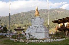 Chorten at the Kurjey Lhakhang, Bhutan Stock Photo