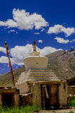 Chorten. A Chorten outside the Sani monastery in beautiful weather Royalty Free Stock Photo