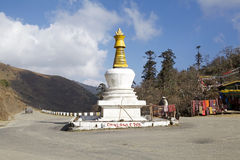 Chorten at the Pele Le pass, Bhutan Stock Photography