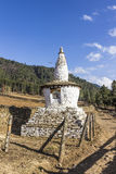 Chorten at phobjikha valley Stock Images