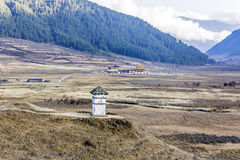 Chorten at phobjikha valley Royalty Free Stock Photos