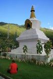 Chorten - Zangdopelri Lhakhang - Thimphu - il Bhutan Fotografia Stock Libera da Diritti