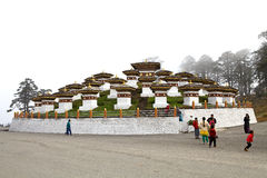 Chortens στο πέρασμα Dochula, Μπουτάν Στοκ Φωτογραφίες