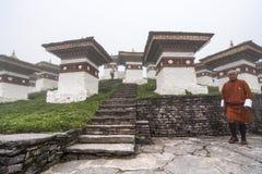 Chortens Ла Dochu, Бутана стоковая фотография